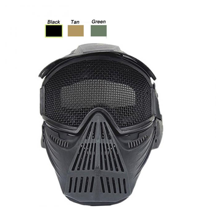Metal Steel Wire Mesh Full Face Mask