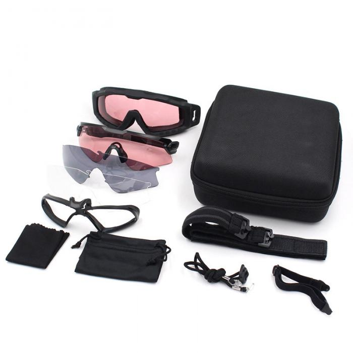 Two Tactical Shooting Glasses Set
